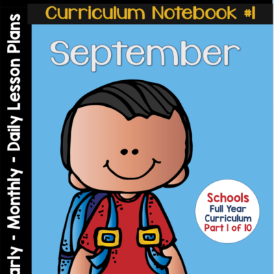 September Curriculum Notebook- Pre-KDG