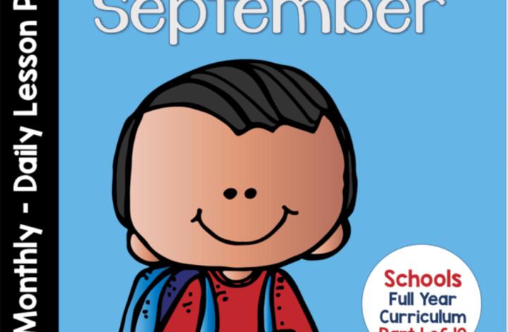 September Curriculum Notebook- Pre-KDG