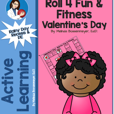 Valentine's Day Roll for Fun and Fitness Game Board