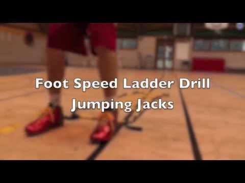 Foot Speed Agility Ladder Drill Jump Jacks