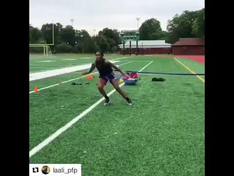 Great Basketball defensive drill with the Acceleration Speed Cord resistance training