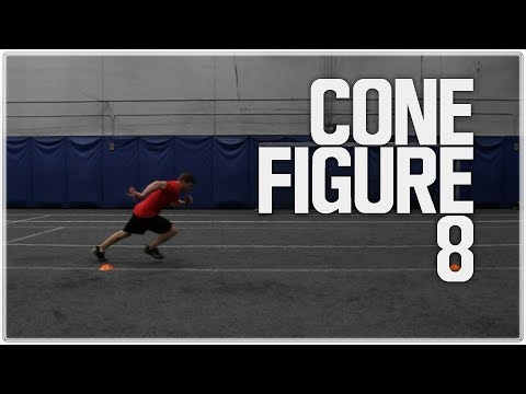 Cone Figure 8 – Acceleration | Cone Drills for Speed and Agility Training