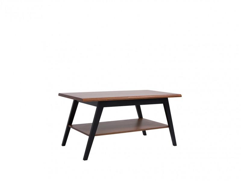 retro coffee table shelf living room furniture 110 cm black brown oak madison d05033 txl madison tx058 2 kor akc01