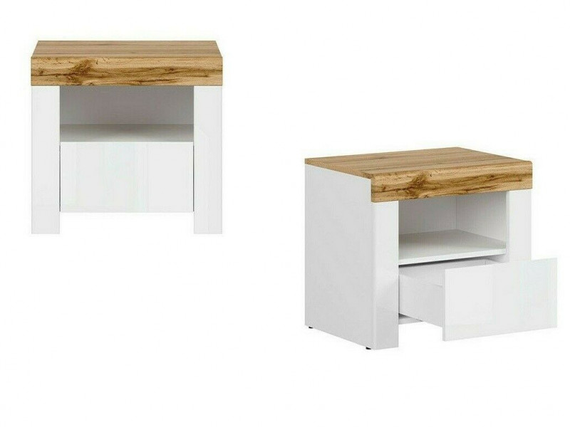 scandinavian bedside cabinet drawer white oak bedroom storage holten s440 kom1s a bi dwo bip kpl01