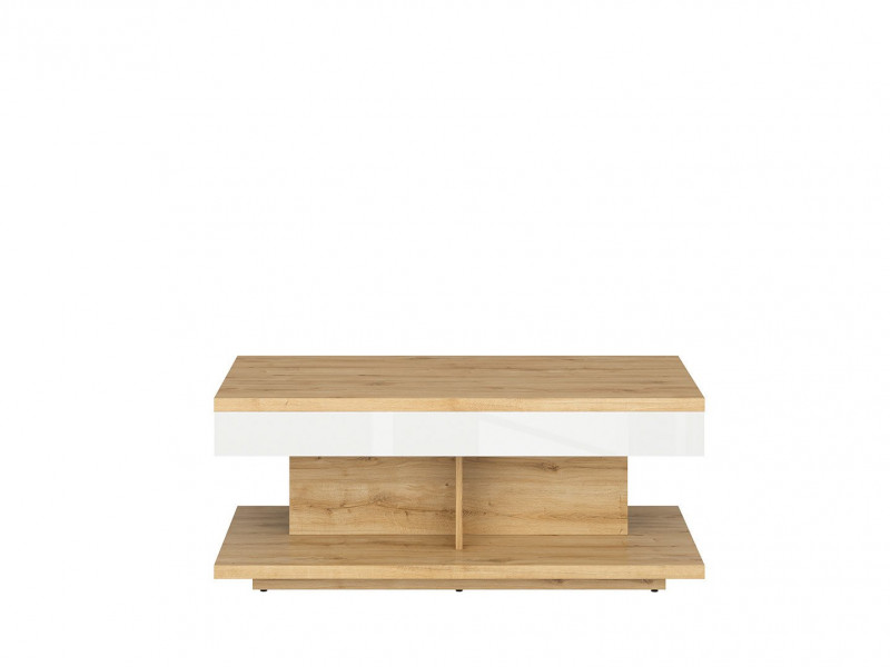 modern white gloss oak finish coffee table rectangular bench storage table with shelf erla s426 law 110 dmv bi kpl01