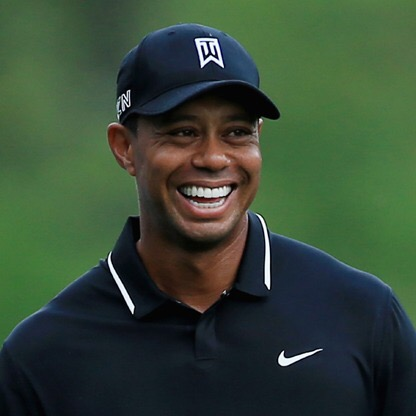 Tiger Woods Smiling