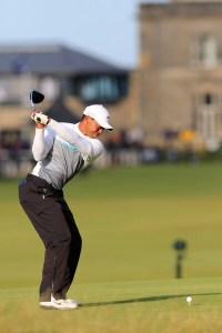 Tiger Woods Backswing St Andrews Wearing Nike