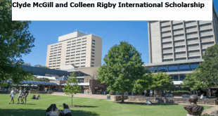 Clyde McGill and Colleen Rigby International Scholarship 2020/21