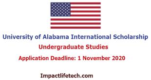 University of Alabama International Scholarship in United States