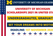 Funded University of Michigan Scholarships in United states