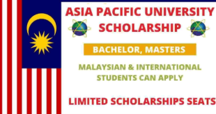 Malaysia Scholarship (BS, MS) at Asia Pacific University