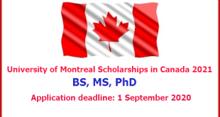 University of Montreal Scholarships in Canada 2021