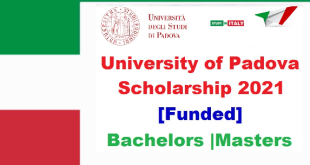 Full Scholarship at University of Padova in Italy 2021