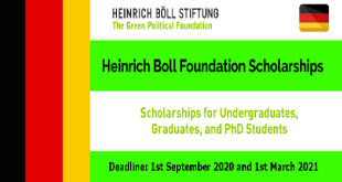 Funded Scholarship by Heinrich Boll Foundation in Germany