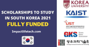 Fully Funded Scholarships to Study in South Korea 2021