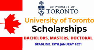 Full International Students Scholarship at University of Toronto in Canada
