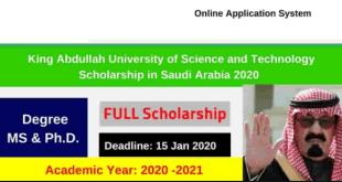 King Abdullah Scholarship Program in Saudi Arabia
