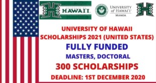 University of Hawaii Scholarships in United States 2021