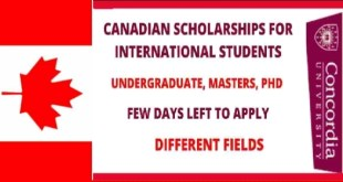 Concordia University Scholarships in Canada 2021