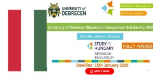 University of Debrecen Scholarship in Hungary 2021