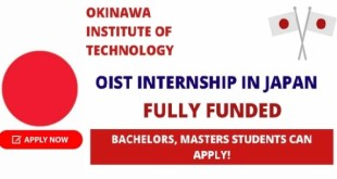 Fully Funded OIST Internship in Japan 2021