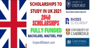 Fully Funded 2,840 Scholarships to Study in UK 2021