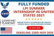 Fully Funded LPI Summer Internship in United States 2021