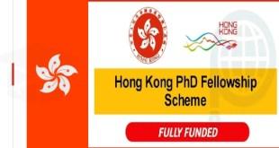 Fully Funded 300 Hong Kong PhD Fellowship Scheme 2021