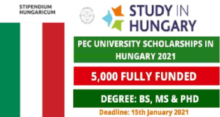 Fully Funded 5,000 University of Pecs Scholarships in Hungary