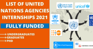 List of United Nations Agencies Internships 2021