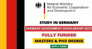 Fully Funded Germany Government Scholarship 2022
