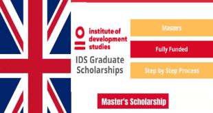 IDS Graduate Scholarship Program at the University of Sussex UK