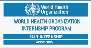 World Health Organization Internship