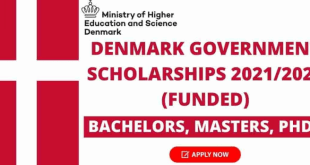 Scholarship in Denmark 2021 | Bs, Ms and PhD