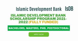 Islamic Development Bank Scholarships