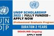 Fully Funded UNDP Scholarship 2021-2022