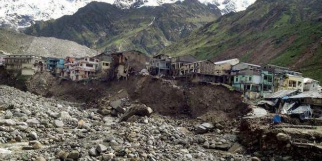 Kedarnath in the Himalayas after climate change induced landslides in 2013 [Image by Sanjay Semwa]