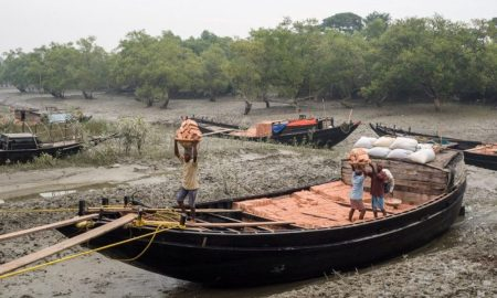 As agricultural productivity flounders in the Sundarbans, unskilled labour is all the residents have to sell [image by: Mike Prince]
