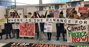 """Developed countries, historically responsible for the majority of emissions, have only promised that the """"probability"""" of climate finance will be available, disappointing many [image by: Joydeep Gupta]"""