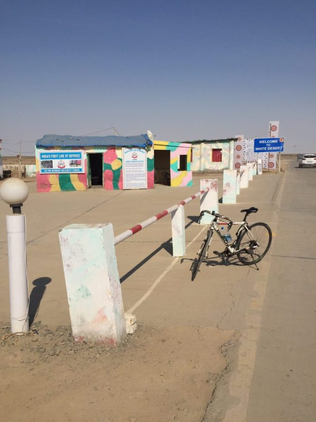 Entrance to the White Desert in the Rann of Kutch in Dhordo, Gujarat.
