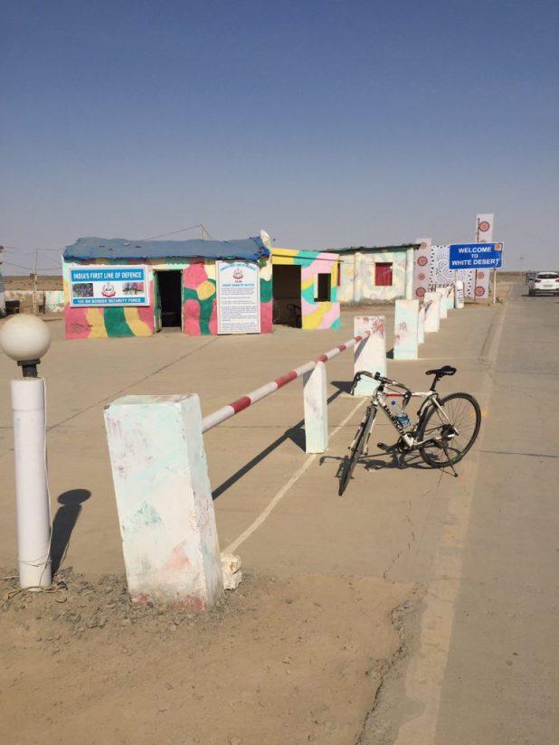 Entrance to the White Desert in the Rann of Kutch in Dhordo, Gujarat.
