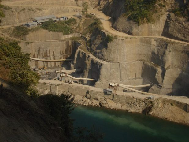 Lower Subansiri dam construction site