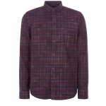 Purple Tartan Check Long Sleeve Shirt