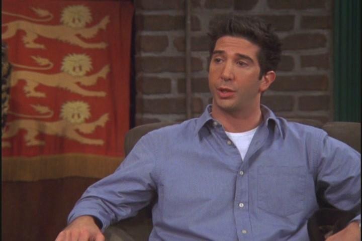 Ross - blue shirt