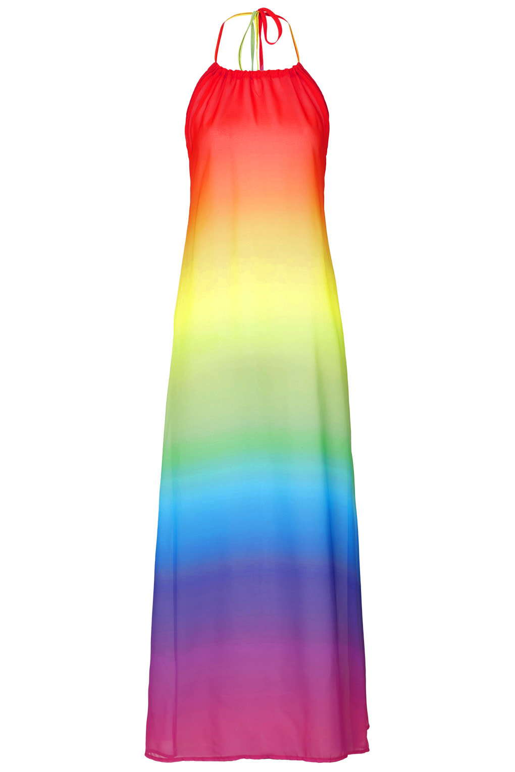 Topshop - Rainbow Chiffon Maxi Beach by Jaded London 34