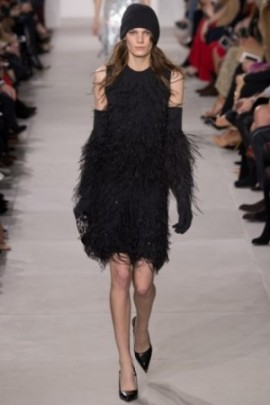 michael kors black feather indigital via vogue