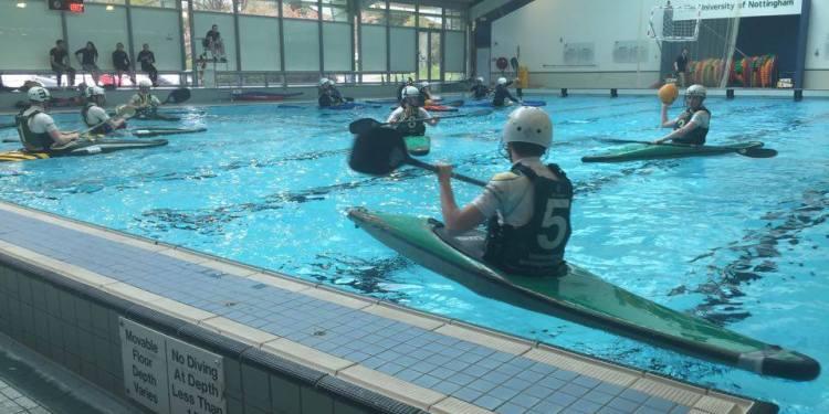 Canoe Polo in full swing.