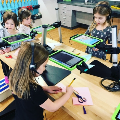 kids using devices