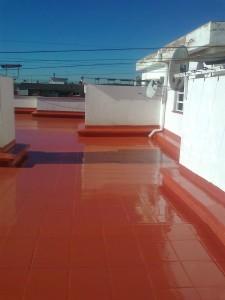 impermeabilizacion resina liquida azotea Barcelona impapol resin