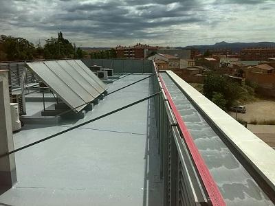 impermeabilización poliurea caliente tejado invertido terraza vic barcelona